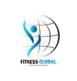 fitness global logo vector image vector image