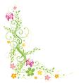 Flowers spring butterflies vector image vector image