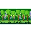 forest game background 2d application vector image vector image