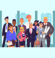 group coworkers teamwork concept vector image