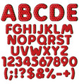 inflatable alphabet numbers in color watermelon vector image vector image