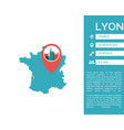 lyon map infographic isolated vector image vector image