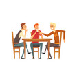 male friends having a good time group of men vector image vector image