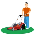 Man cutting grass vector image vector image