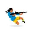 Man with a gun Cartoon vector image vector image