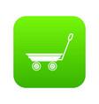 market trolley icon green vector image