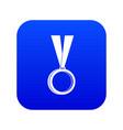 medal icon digital blue vector image