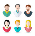 men and women icons faceless web avatars set vector image
