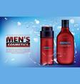 men cosmetics shower gel deodorant antiperspirant vector image vector image