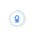 microphone speech recognition vector image vector image
