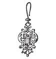 modern earring is a drop vintage engraving vector image vector image