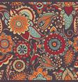 motley oriental paisley seamless pattern vector image