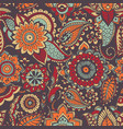 motley oriental paisley seamless pattern with vector image vector image