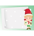 paper sheets and boy vector image vector image