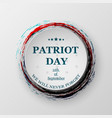 patriot day 11th september design for postcard vector image vector image