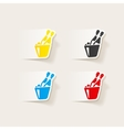 realistic design element champagne vector image