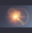 reddish magical light effect with beams and flares vector image vector image