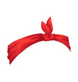 retro headband for woman red bandana for vector image vector image