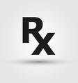Rx medicine1 vector image vector image