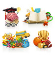 school concepts 3d set vector image vector image