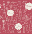 seamless pattern on theme food and drink vector image