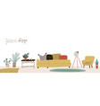 set furniture for scandinavian interior and vector image vector image