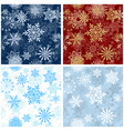 Set of seamless snowflake patterns vector | Price: 1 Credit (USD $1)