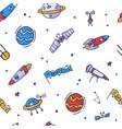 space seamless pattern print design doodle design vector image vector image