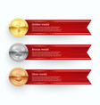 sport competition medals banner templates vector image vector image