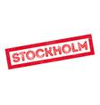 Stockholm rubber stamp vector image