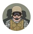 swat policeman vector image