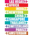 tag of different place vector image