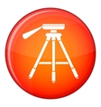 Tripod icon flat style vector image vector image