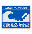 Tsunami Danger Sign vector image