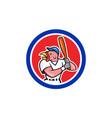 Turkey Baseball Hitter Batting Circle Cartoon vector image vector image