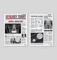 ufo newspaper newspaper columns with text media vector image vector image