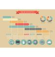 Vintage Timeline Infographic vector image