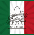 viva mexico traditional card vector image vector image