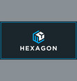 wc hexagon logo design inspiration vector image vector image