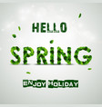 word spring made fresh green leaves vector image