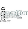 zero percent credit cards text word cloud concept vector image vector image