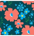 Floral pattern in doodle style vector image