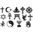 world religions symbols set vector image