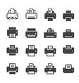 print icon set vector image