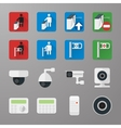 Security icons set 3 vector image