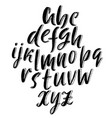 3d sketch font calligraphy lettering lowercase vector image