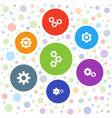 7 mechanism icons vector image vector image