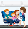 a family on airplane vector image vector image