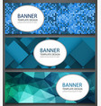 abstract banners set with different patterns vector image vector image