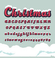 alphabetic fonts and numbers for christmas vector image